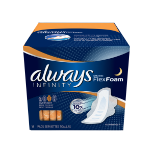 Always Infinity Overnight Pads with Wing - 00037000117155_960x960